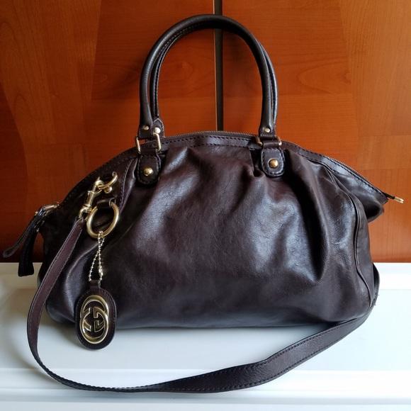 2cdb1be0088e Gucci Bags | Chocolate Brown Shoulder Hand Carry Purse | Poshmark